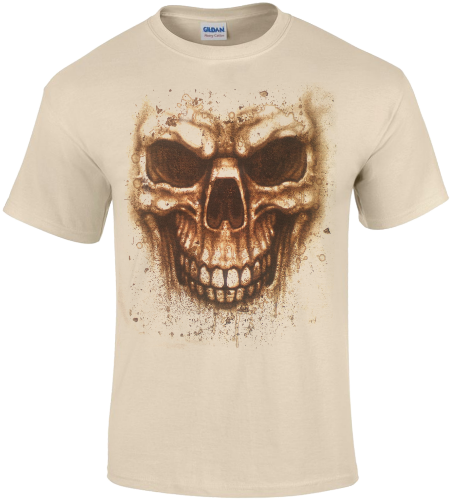 Stained skull